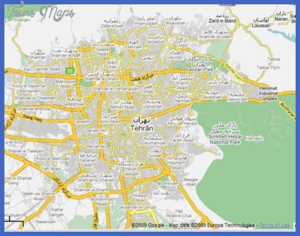 tehran map w510h398 Tehran Map