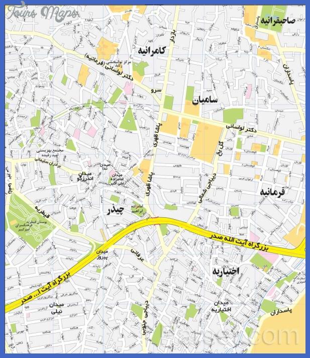 tehran map 0 Tehran Map