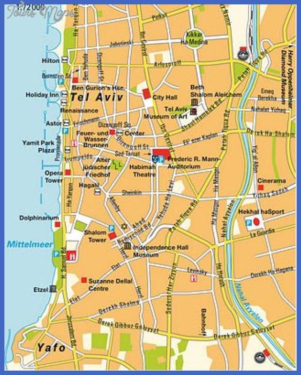 tel aviv map 1 Tel Aviv Map