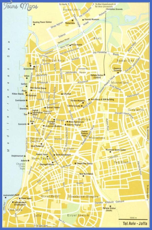 tel aviv street map Tel Aviv Map