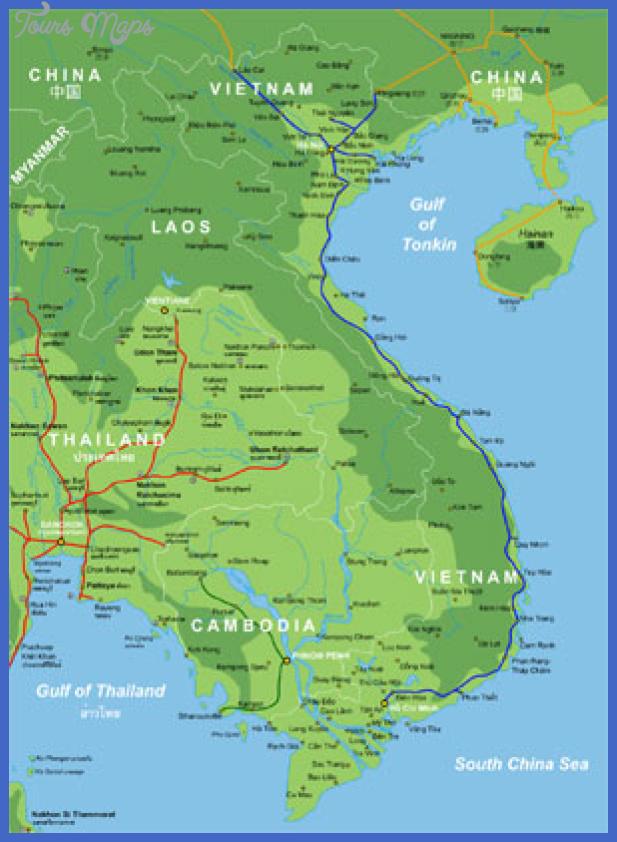 th vietnam topo rail Vietnam Metro Map