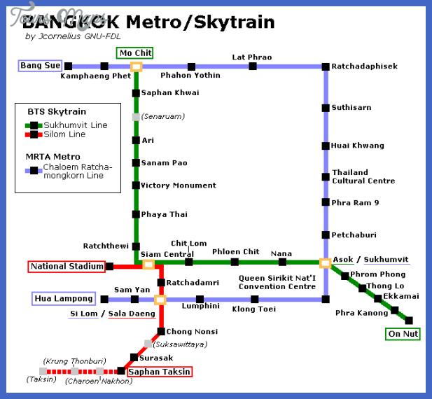 thailand metro map  2 Thailand Metro Map