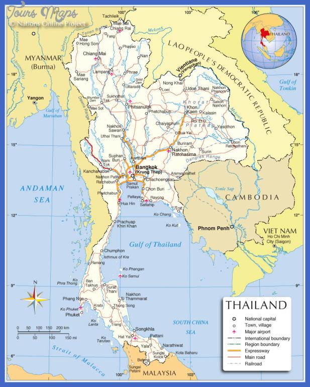 thailand political map Thailand Map