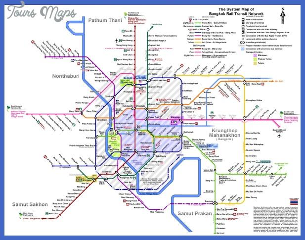 thailand subway map  1 Thailand Subway Map