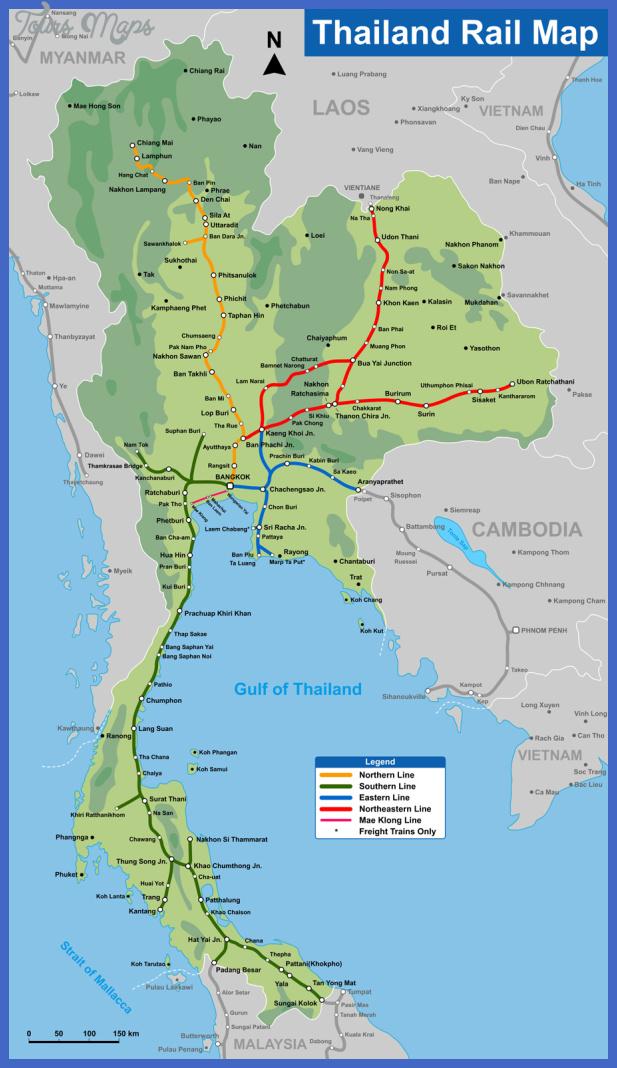 thailand rail map Thailand Map