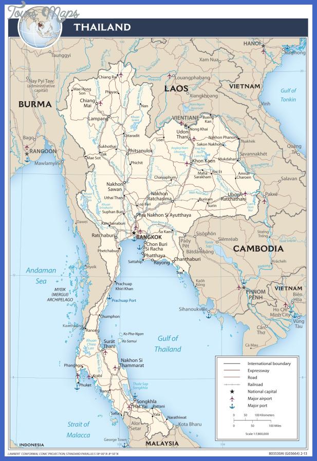 thailandmap Thailand Map