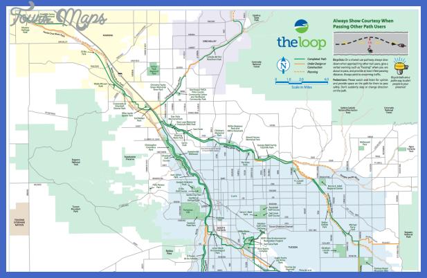 the loop Tucson Metro Map