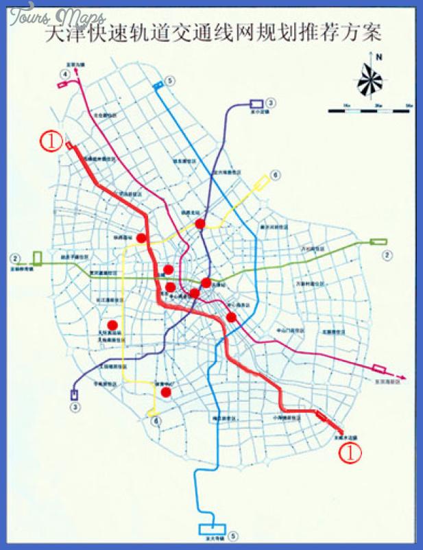 tianjin projects Tianjin Metro Map