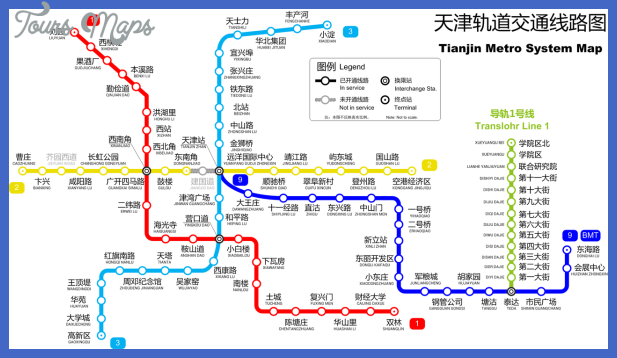 tianjin subway map 1 Tianjin Subway Map
