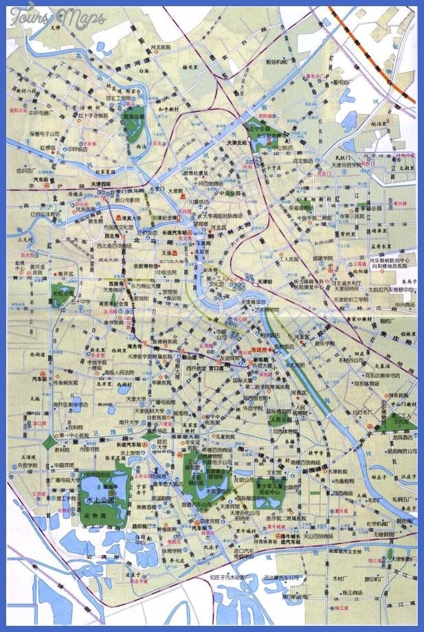 tinajin tourist map 1 Tianjin Map