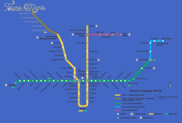 toronto metro map 2 Toronto Metro Map