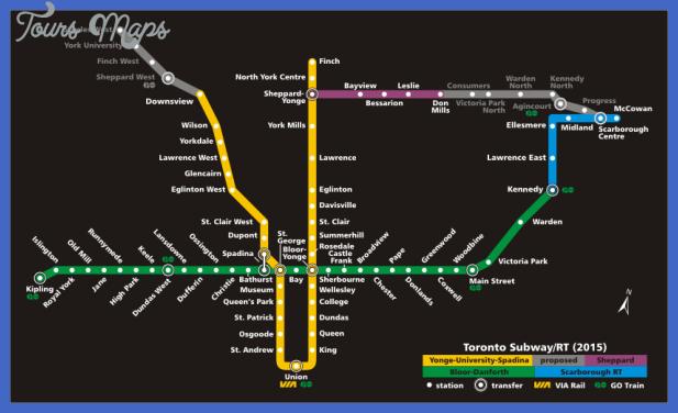 toronto metro map 3 Toronto Metro Map