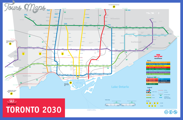 Toronto Subway Map Overlay.Toronto Subway Map Toursmaps Com
