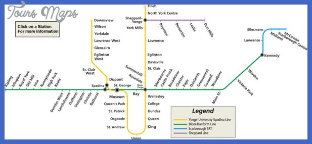 toronto ttc subway map Toronto Subway Map