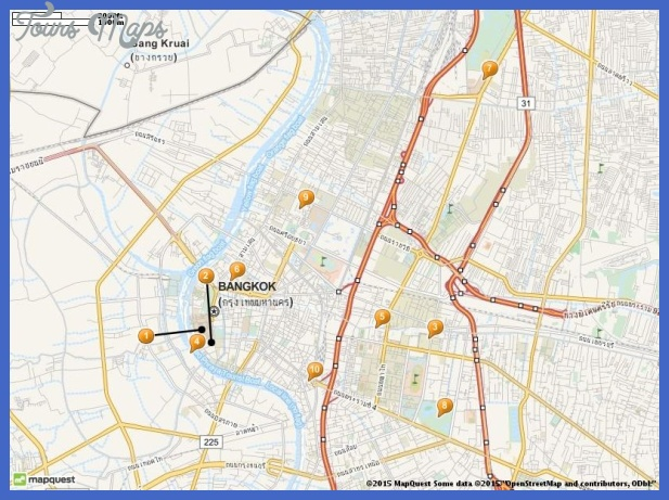 tourist attractions in bangkok map Bangkok Map Tourist Attractions