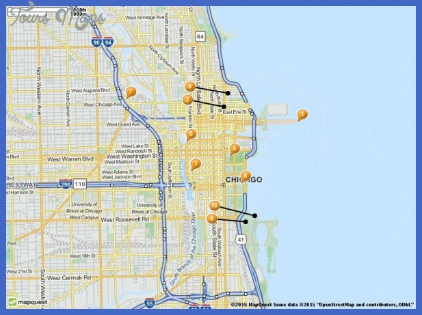 tourist attractions in chicago map Chicago Map Tourist Attractions