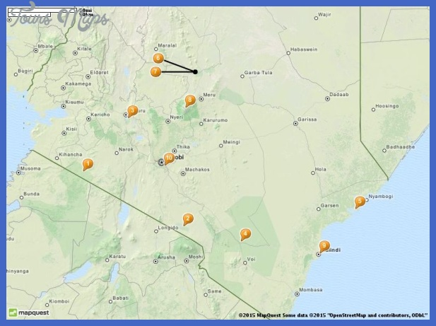 Kenya Map Tourist Attractions ToursMapsCom – Kenya Tourist Attractions Map