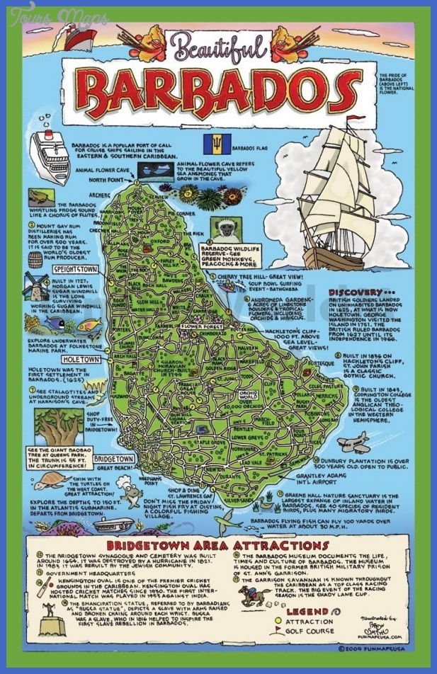 tourist map of barbados with attractions max Burundi Map Tourist Attractions