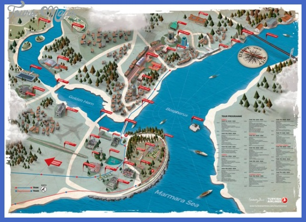 touristanbul map Istanbul Map Tourist Attractions