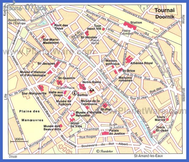 tournai map Chandler Map Tourist Attractions
