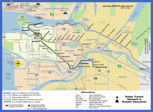 transit1 1 Vancouver Subway Map