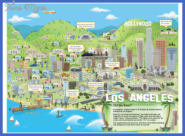 travel map of los angeles city Los Angeles Map