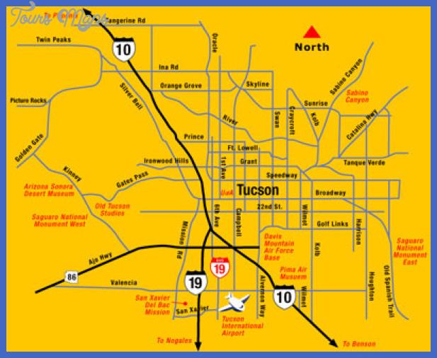 tucson metro map 18 Tucson Metro Map