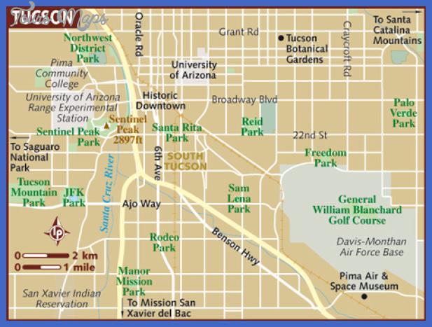 tucson metro map 8 Tucson Metro Map