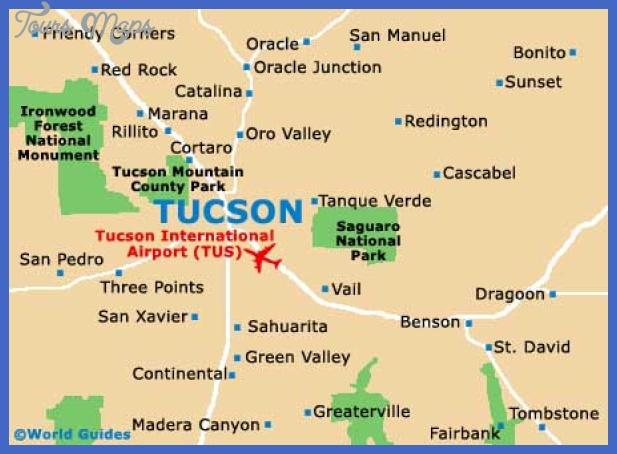 tucson map city Tucson Metro Map