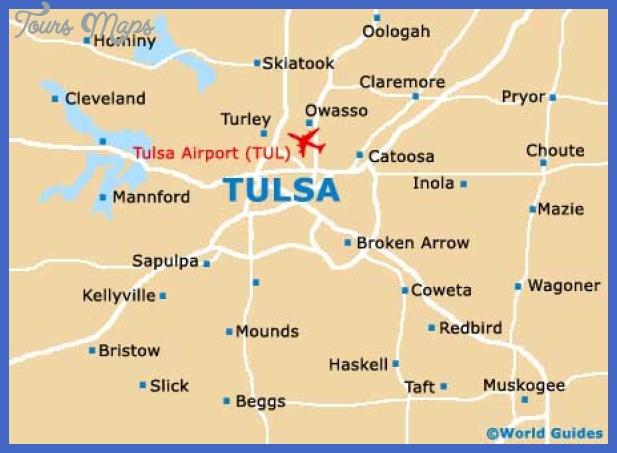 tulsa map1 Tulsa Map