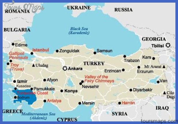 Turkey Map Tourist Attractions ToursMapsCom – Turkey Tourist Attractions Map