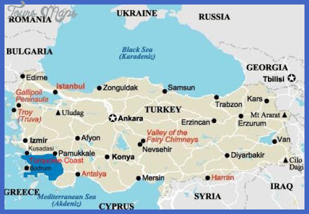turkey map Ankara Map Tourist Attractions