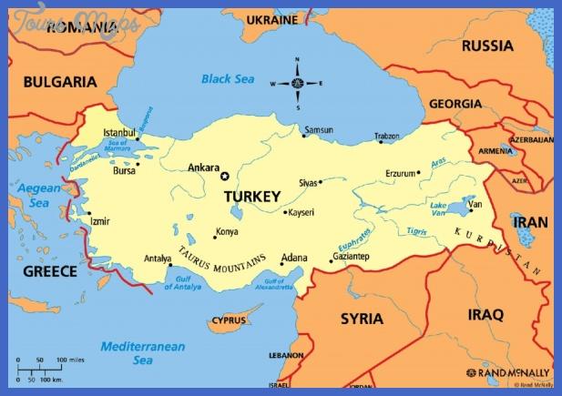 turkey political map 1024x714 Turkey Map