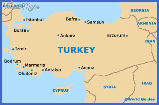 turkey map1 Ankara Map Tourist Attractions