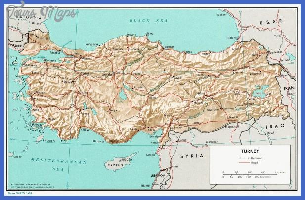 turkey rel 1969 Turkey Map