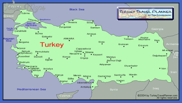turkeytouristicmap2 Turkey Map
