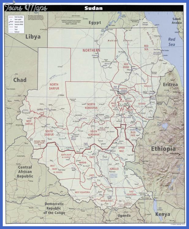 txu oclc 219400066 sudan pol 2007 Sudan Map