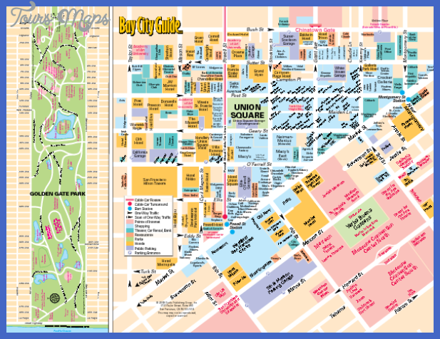 San Francisco Map Tourist Attractions ToursMapsCom – Map Of San Francisco Tourist Attractions