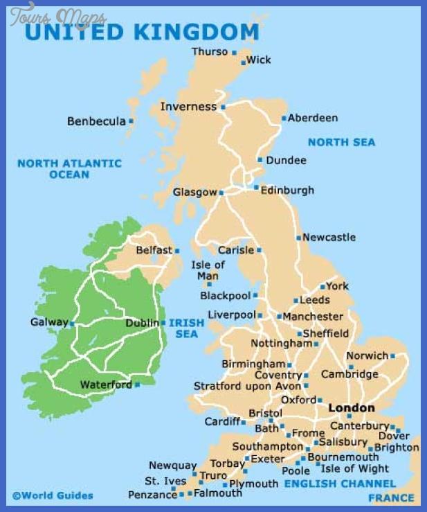 United Kingdom Map Tourist Attractions - ToursMaps.com
