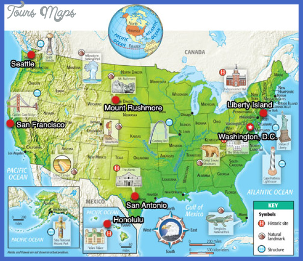 United States Map Tourist Attractions - ToursMaps.com ®