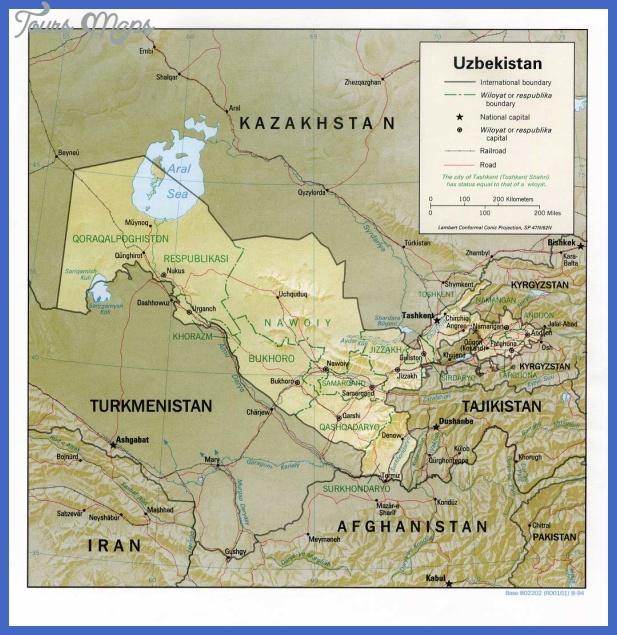 uzbekistan map  3 Uzbekistan Map