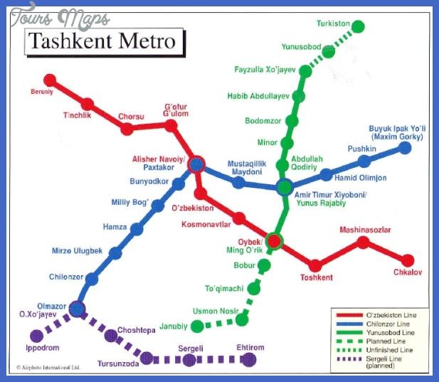 uzbekistan metro map  1 Uzbekistan Metro Map