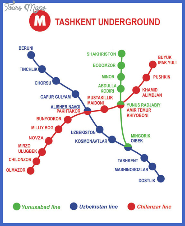 uzbekistan subway map 0 Uzbekistan Subway Map