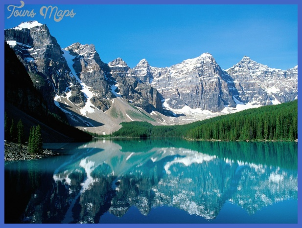 Valley Of The Ten Peaks Best Places For Winter Vacation In Usa