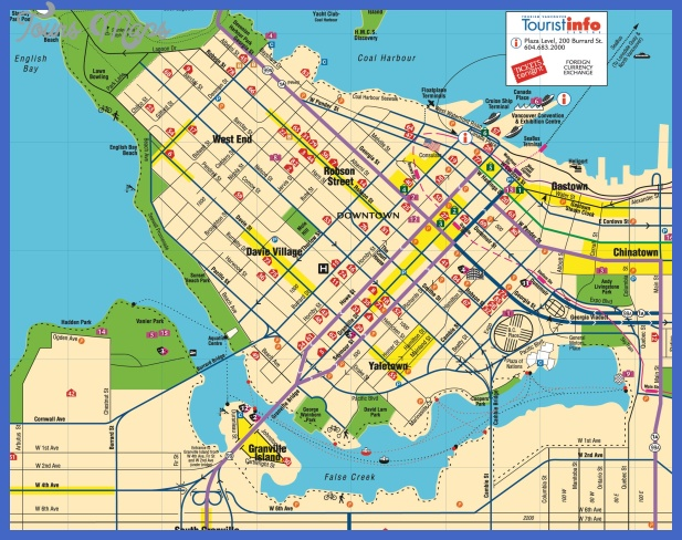 vancouver downtown map 2 Vancouver Map