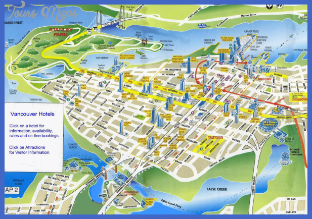 vancouver hotel map Vancouver Map