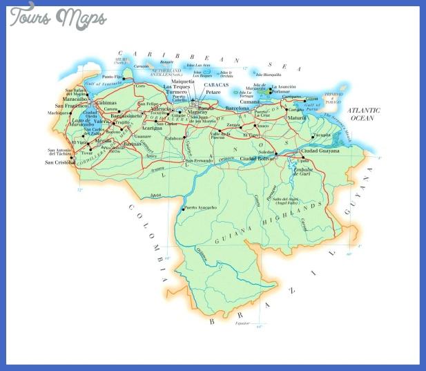 venezuela map 3 Venezuela Map