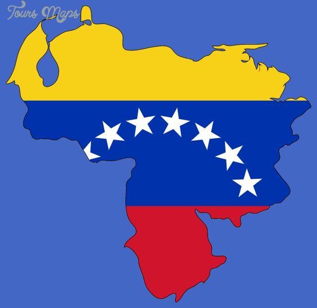 venezuela flag map1 Venezuela Map