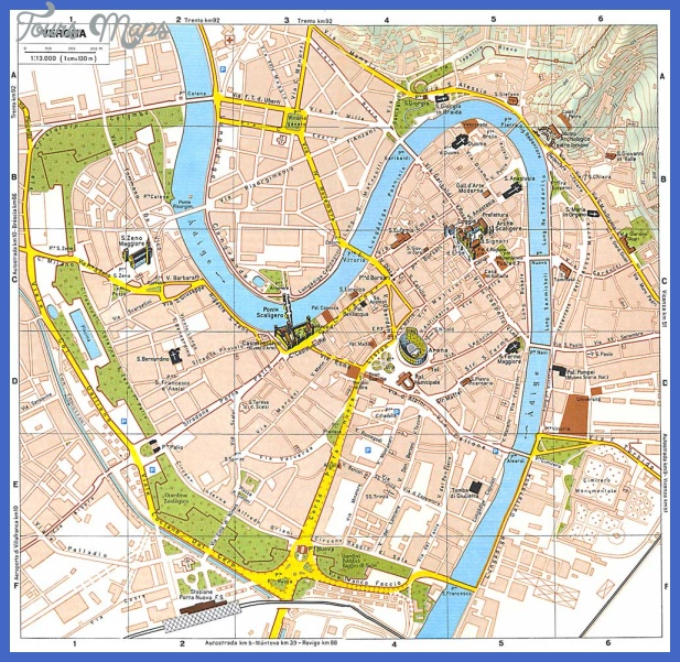 verona italy tourist map Italy Map Tourist Attractions