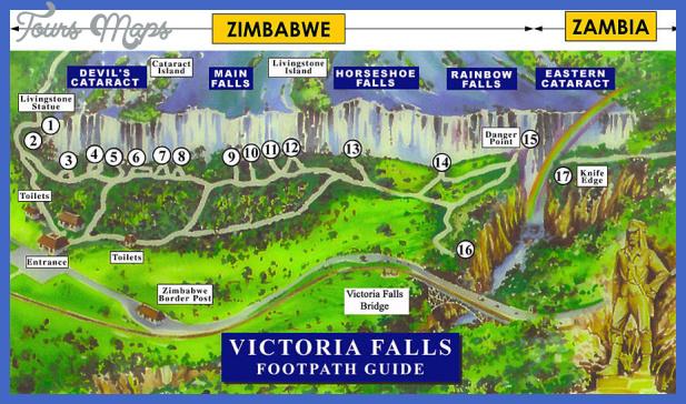 Zimbabwe Map Tourist Attractions ToursMapscom